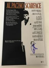 Al Pacino Signed Scarface 12x18 Photo Movie Poster Authentic Autograph Bas Coa