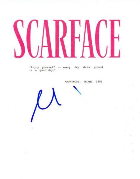 Al Pacino Signed Scarface Full Script Authentic Autograph Coa