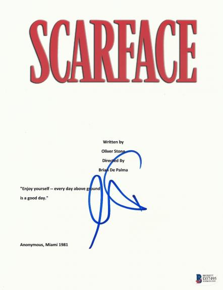 Al Pacino Signed 'scarface' Full Script Screenplay Authentic Auto Beckett Bas