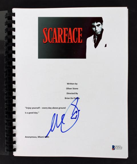 Al Pacino Signed Scarface Movie Script Autographed BAS #C57572