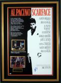 Scarface Al Pacino Signed Poster Framed - PSA Collection
