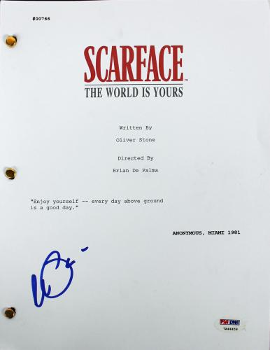 Al Pacino Signed Scarface Movie Script PSA/DNA ITP #7A44459