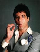 Al Pacino signed Scarface Tony Montana 11X14 Photo (Vertical w/Cigar full sig)- Beckett Holo #D48799