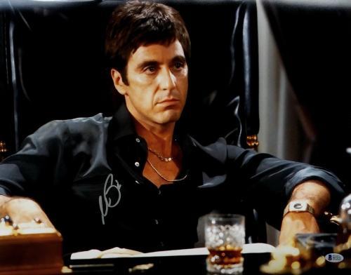 Al Pacino Signed Scarface Tony Montana 16x20 Closeup Photo Beckett BAS