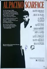 Al Pacino Signed Scarface Tony Montana 27x39 Movie Poster Beckett BAS
