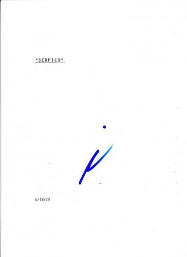 Al Pacino Signed Serpico Script Authentic Autograph Full 131 Page Coa