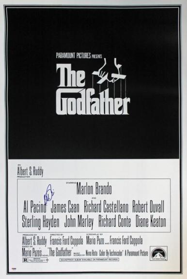 Al Pacino Signed The Godfather 27x40 Movie Poster In Matted Display Psa/dna Itp