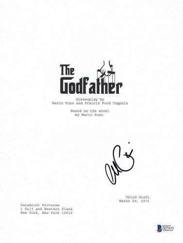 Al Pacino Signed 'the Godfather' Full Script Screenplay Authentic Auto Beckett