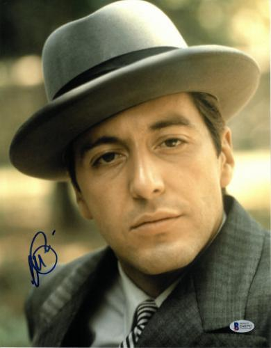 Al Pacino signed The Godfather Michael Corleone 11X14 Photo (Vertical Close up w/Hat full sig)- Beckett Holo #D48792