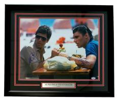 Al Pacino & Steve Bauer Dual Signed & Framed Scarface 16x20 Photo PSA