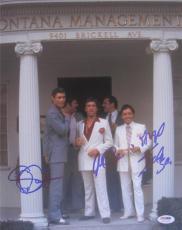 Al Pacino Steven Bauer Angel Salazar Triple  Signed 11x14 Photo Scarface Psa Itp