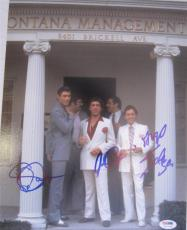 Al Pacino Steven Bauer Angel Salazar Triple  Signed 16x20 Photo Scarface Psa Itp