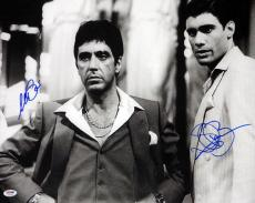 Al Pacino & Steven Bauer Autographed Signed 16x20 Photo Scarface PSA #4A98454
