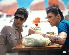 Al Pacino & Steven Bauer Autographed Signed 16x20 Photo Scarface PSA/DNA