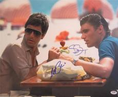 Al Pacino Steven Bauer Dual Signed 16x20 Photo  Scarface Psa/dna Itp A4