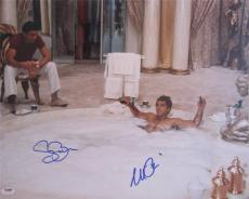 Al Pacino Steven Bauer Dual Signed 16x20 Photo  Scarface Psa/dna Itp A8