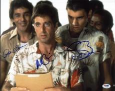 Al Pacino, Steven Bauer & Pepe Serna Signed 11X14 Scarface Photo PSA/DNA #W00889