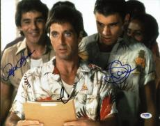 Al Pacino, Steven Bauer & Pepe Serna Signed 11X14 Scarface Photo PSA/DNA #W02209