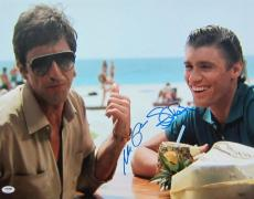 Al Pacino Steven Bauer Signed Authentic 16x20 Photo Scarface Psa/dna Itp 4a98512