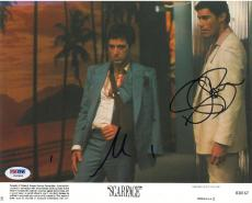 Al Pacino & Steven Bauer Signed Scarface Autographed 8x10 Photo PSA/DNA #V60984