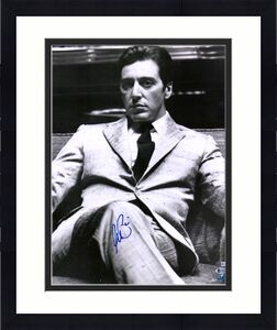 """Al Pacino The Godfather Autographed 16"""" x 20"""" Sitting Photograph - BAS"""