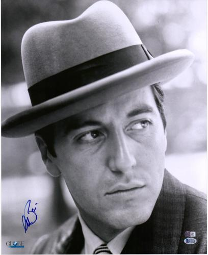 """Al Pacino The Godfather Autographed 16"""" x 20"""" Wearing Hat Photograph - BAS"""