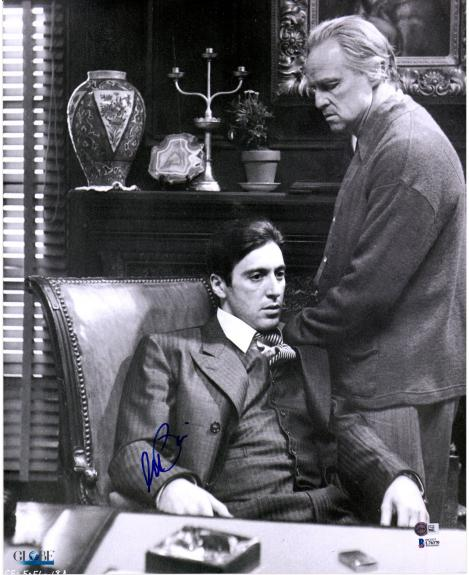 "Al Pacino The Godfather Autographed 16"" x 20"" with Marlon Brando Photograph - BAS"
