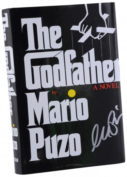 Al Pacino The Godfather Autographed Book - BAS