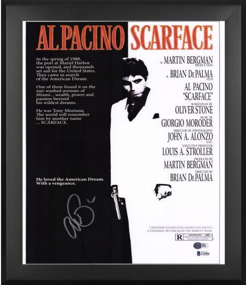 """Al Pacino The Godfather Framed Autographed 27"""" x 40"""" Full Sized Movie Poster - BAS"""