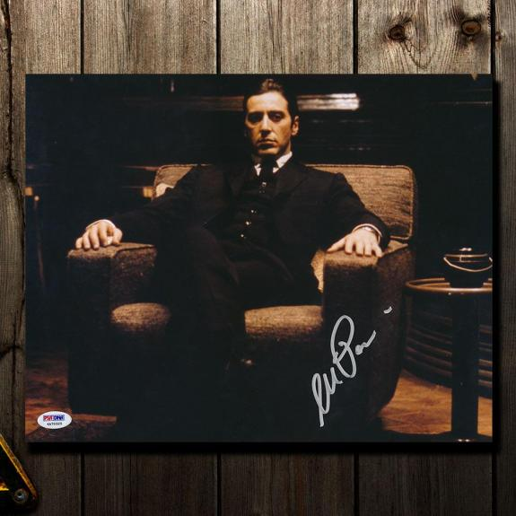 Al Pacino THE GODFATHER Michael Corleone Signed 11x14 Photo PSA COA