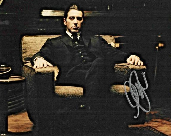 Al Pacino The Godfather Scarface The Irishman Signed 8x10 Auto Photo DG COA (B)