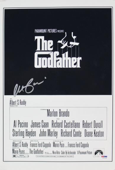 Al Pacino The Godfather Signed 12x18 Graded 10! Photo PSA/DNA #5A00988