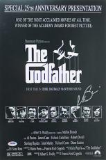Al Pacino The Godfather Signed 12X18 Mini Poster Auto Graded 10! PSA #6A31138