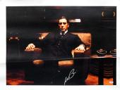 Al Pacino The Godfather Signed 20x28 Canvas PSA/DNA ITP #4A98786