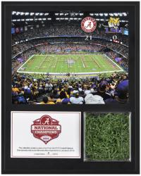 "Alabama Crimson Tide 2011 BCS National Champions Sublimated 12"" x 15"" Plaque with Game Used Turf"
