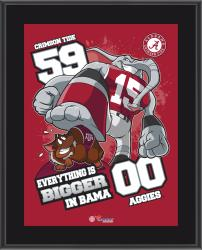 """Alabama Crimson Tide 2014 Win Over Texas A&M Aggies Sublimated 10.5"""" x 13"""" Matchup Plaque"""