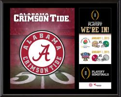 """Alabama Crimson Tide College Football Playoff """"We're In!"""" Sublimated  12"""" x 15"""" Plaque"""