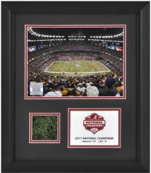 Alabama Crimson Tide 2011 BCS National Champions Framed 6x8 Photograph with Game Used Turf