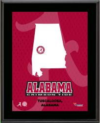 ALABAMA CRIMSON TIDE (STATE) 10x13 PLAQUE (SUBL) - Mounted Memories