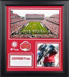 "Alabama Crimson Tide Win Over Texas A&M Aggies Framed 15"" x 17"" Collage with Piece of Game-Used Ball"