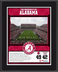 "Alabama Crimson Tide Win Over Texas A&M Aggies Sublimated 10.5"" x 13"" Plaque"
