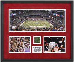 Alabama Crimson Tide 2011 BCS National Champions Framed Mini Panoramic Collage with Game Used Turf