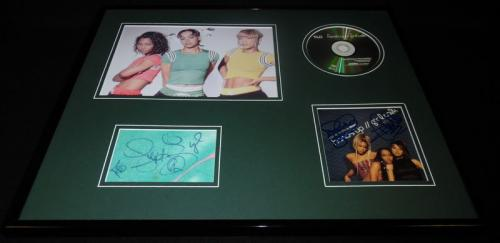 TLC Group Signed Framed 16x20 CD & Photo Display JSA w/ Left Eye Lopes