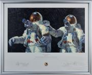 Alan Bean & Charles Conrad Apollo 12 Signed & Framed Art Print LE #145/850 BAS