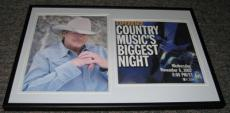 Alan Jackson Facsimile Signed Framed 2002 CMA Awards Photo Poster Display
