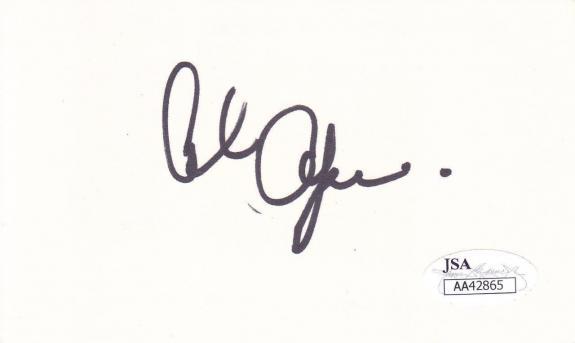 ALAN OPPPENHEIMER Signed on 3x5 Index Card Actor/Westworld JSA AA42865