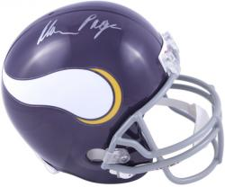 Alan Page Minnesota Vikings Autographed Riddell Replica Throwback Helmet - Mounted Memories