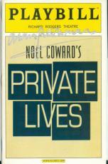 Alan Rickman autographed Broadway Playbill Private Lies