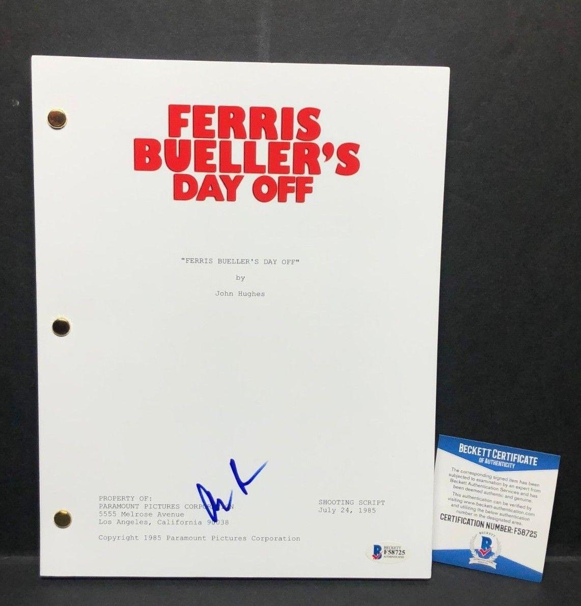 Alan Ruck Signed Ferris Bueller S Day Off Full Movie Script