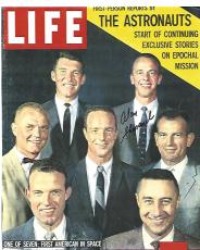 ALAN SHEPARD - Selected as One of the Original NASA MERCURY SEVEN ASTRONAUTS in 1959 - First American to Travel Into SPACE (Passed Away 1998) Signed Copy of Cover of LIFE MAGAZINE